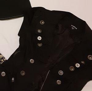 Bebe black satin jacket